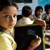 ©Nagappa. In the villages, village community development committees run their own tuition centres.