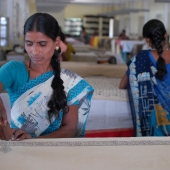 ©Nagappa. Women are also trained in various skills which could improve the family income such as book binding, kalamkari printing and incense sticks making.