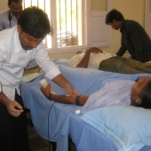 ©Madava Naidu. Blood donation camps are organized regularly in the villages.
